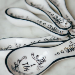 Mandy Measuring Spoons Font Handpainted Design Relish Decor