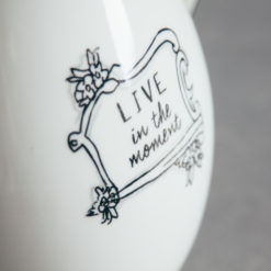 Mandy Pitcher Live in the Moment Black and White Handlettered Relish Decor