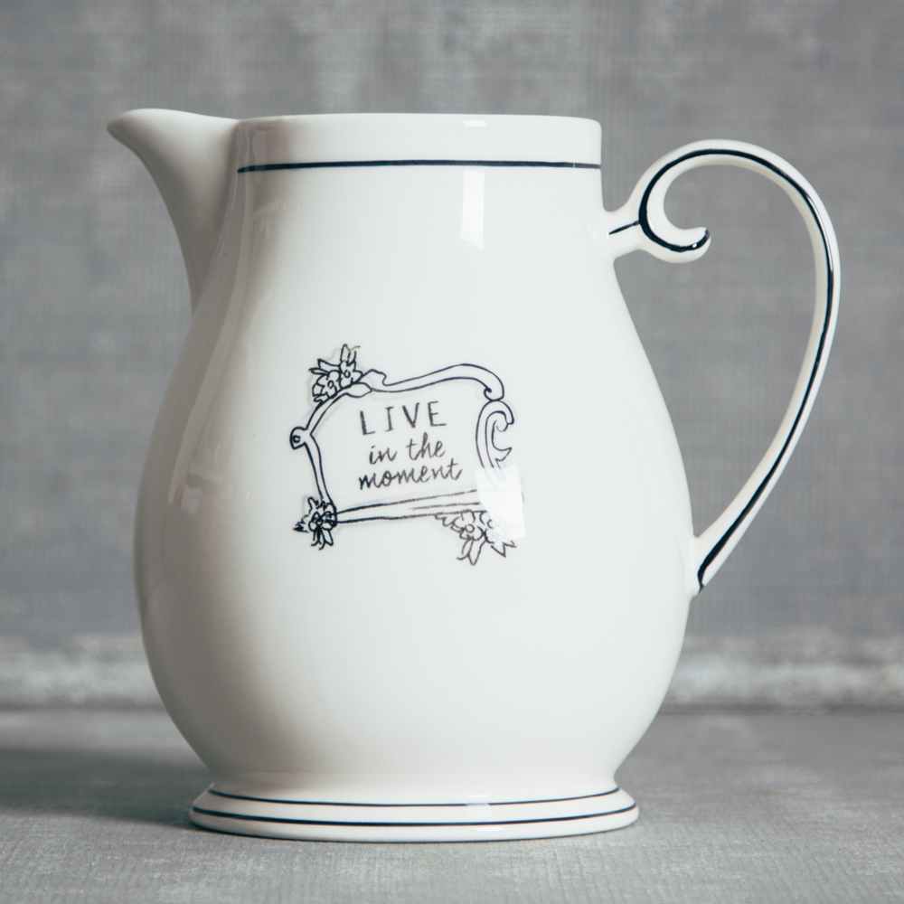 Mandy Pitcher Live in the Moment Black and White Relish Decor