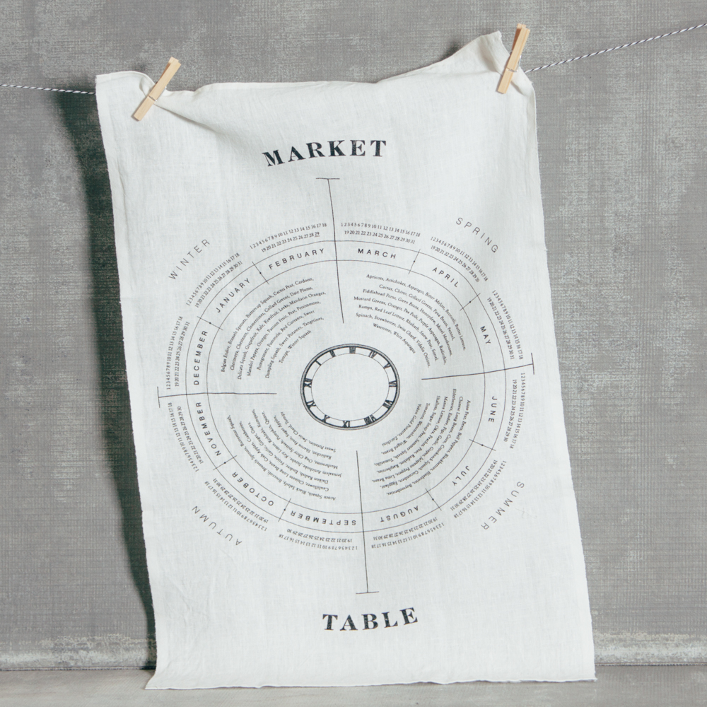Market Table Pure Linen Towel Relish Decor