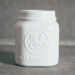 Mason Jar Canister White Utensil Holders Relish Decor