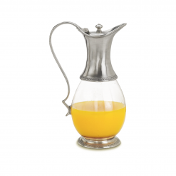 Match-Pewter-Glass-Pitcher-with-Handle-and-Lid-Relish-Decor