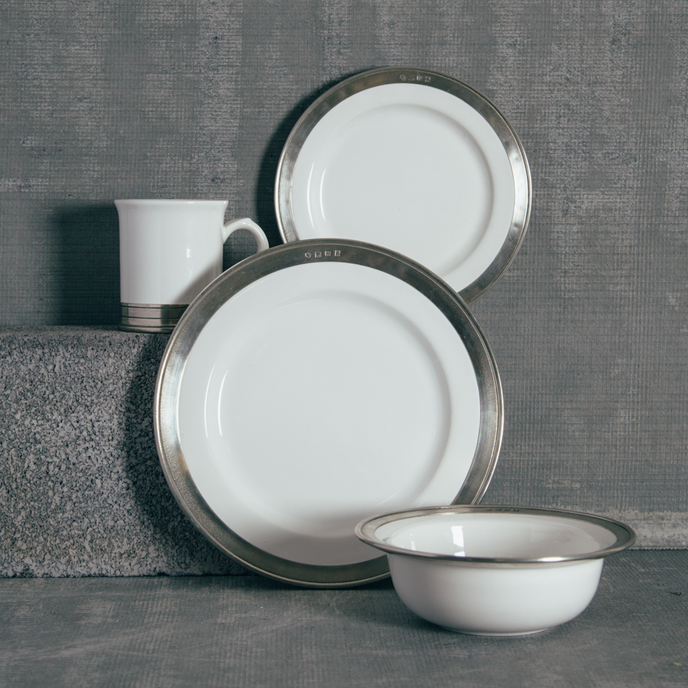 Match Pewter Convivo Dinnerware Collection Relish Decor ... & Made in Italy - Relish Decor
