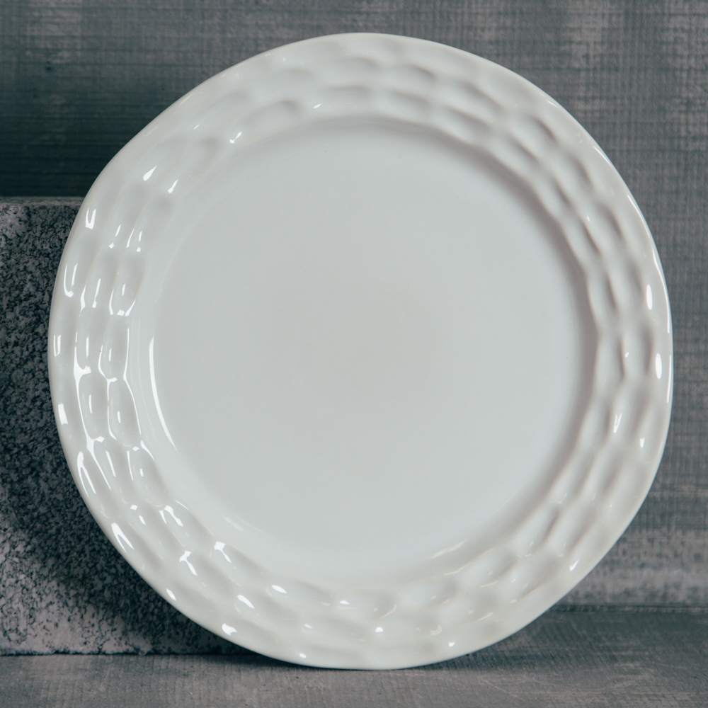 Michael Wainwright Lenox Truro White China Dinner Plate Relish Decor