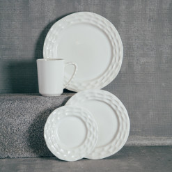 Michael Wainwright Lenox Truro White China Dinnerware Collection Relish Decor