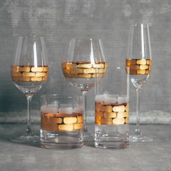 Michael Wainwright Truro Glassware Stemware Gold Relish Decor