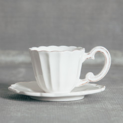 Milano Dinnerware Collection Cup and Saucer Relish Decor
