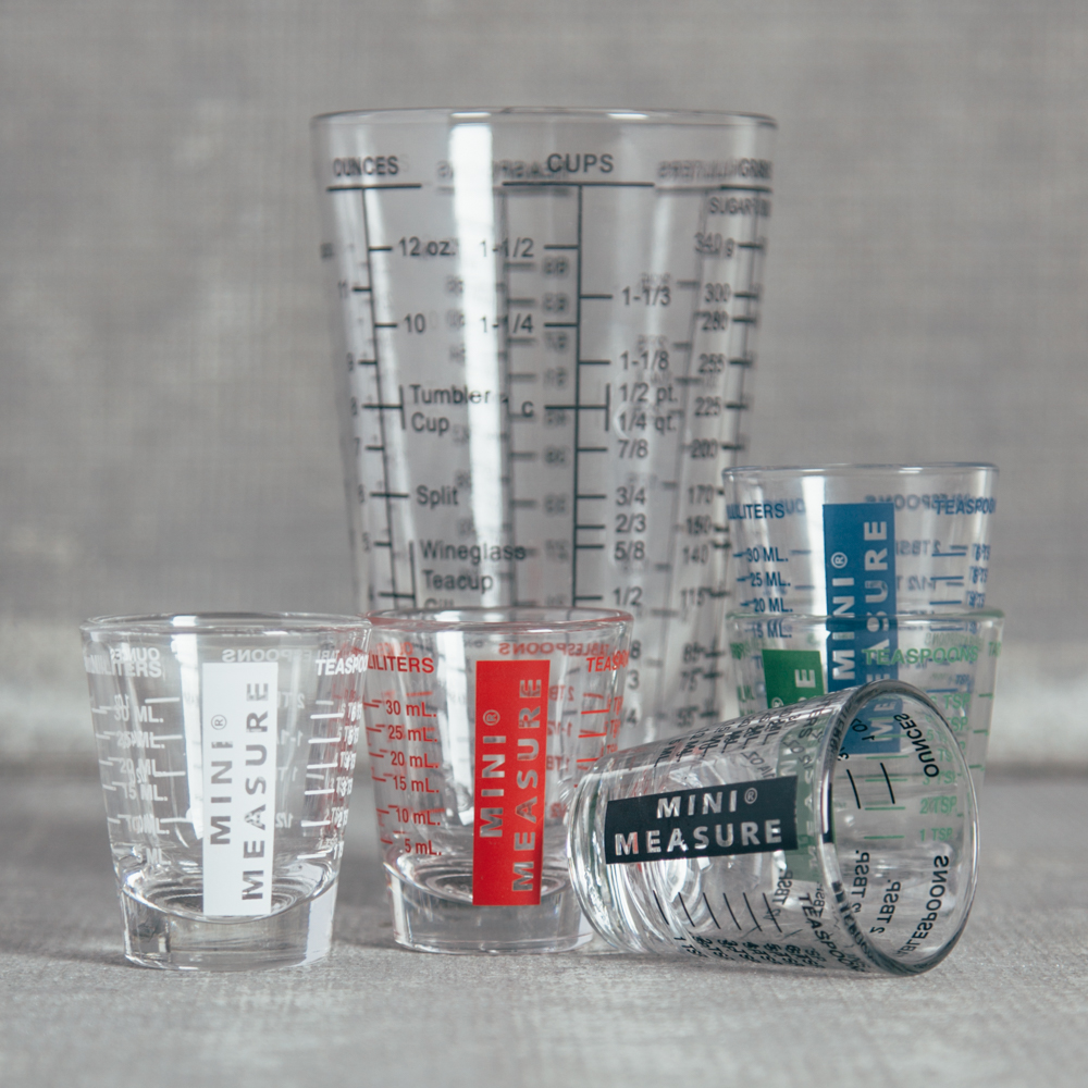 Mix and Measure Mini Measure Glassware Relish Decor