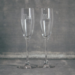 Mr Mrs Relish Decor Jolie Flutes