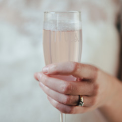 Mrs Champagne Toasting Flute Wedding Relish Decor