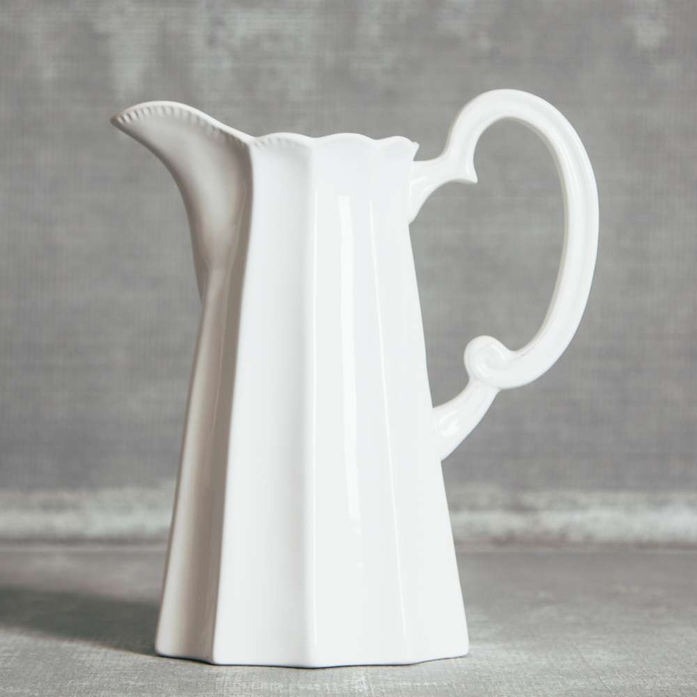 Napoli White Pitcher Italiano Serveware Collection Relish Decor