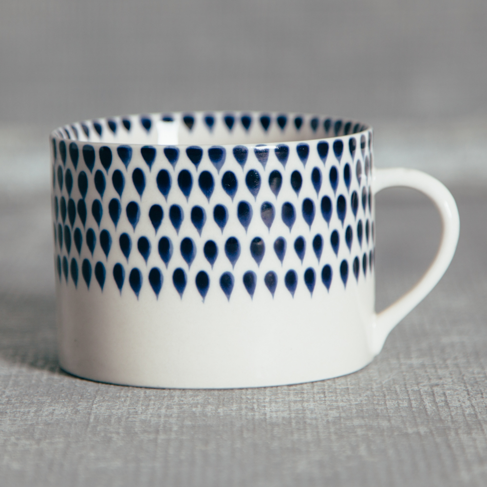 Nkuku Indigo Drops Mug Relish Decor