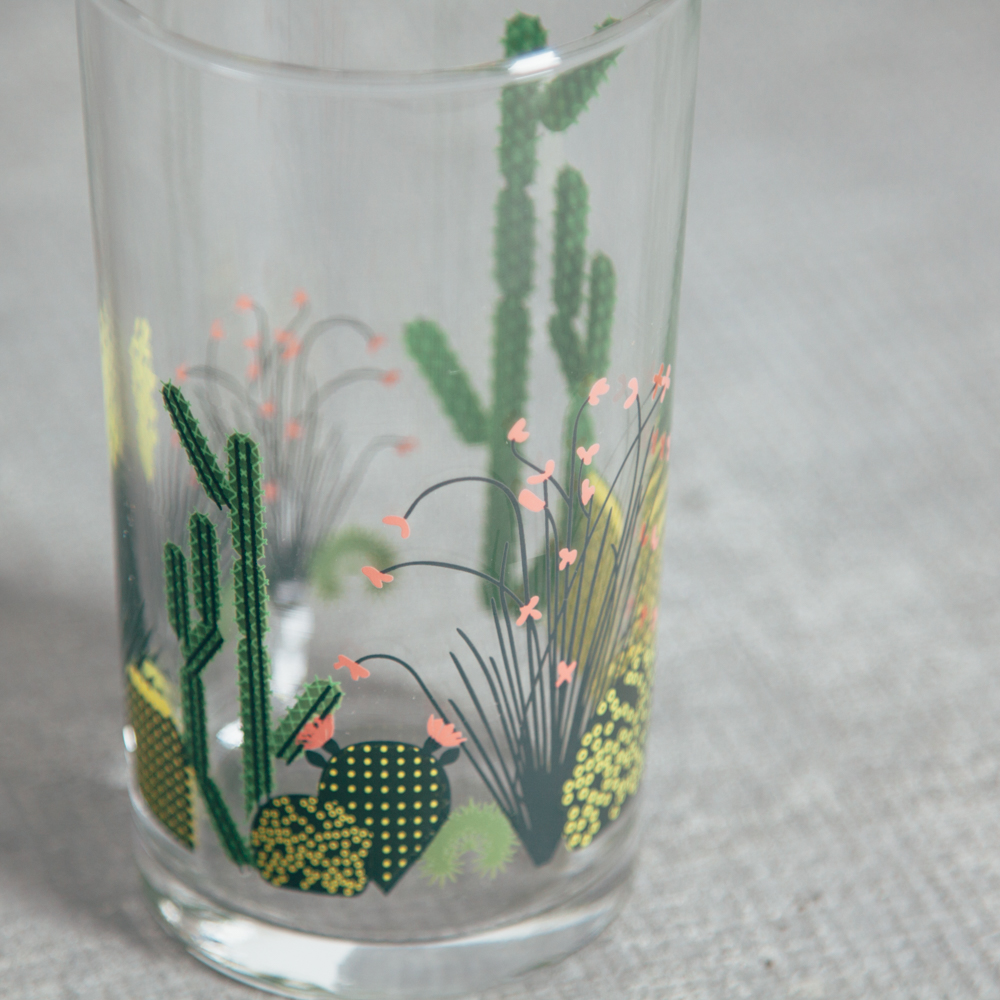 Oldham + Harper Cactus Glassware Fishs Eddy Relish Decor