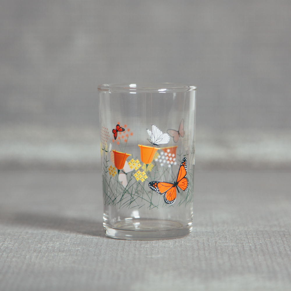 Oldham + Harper Fishs Eddy Butterfly Juice Glass Relish Decor