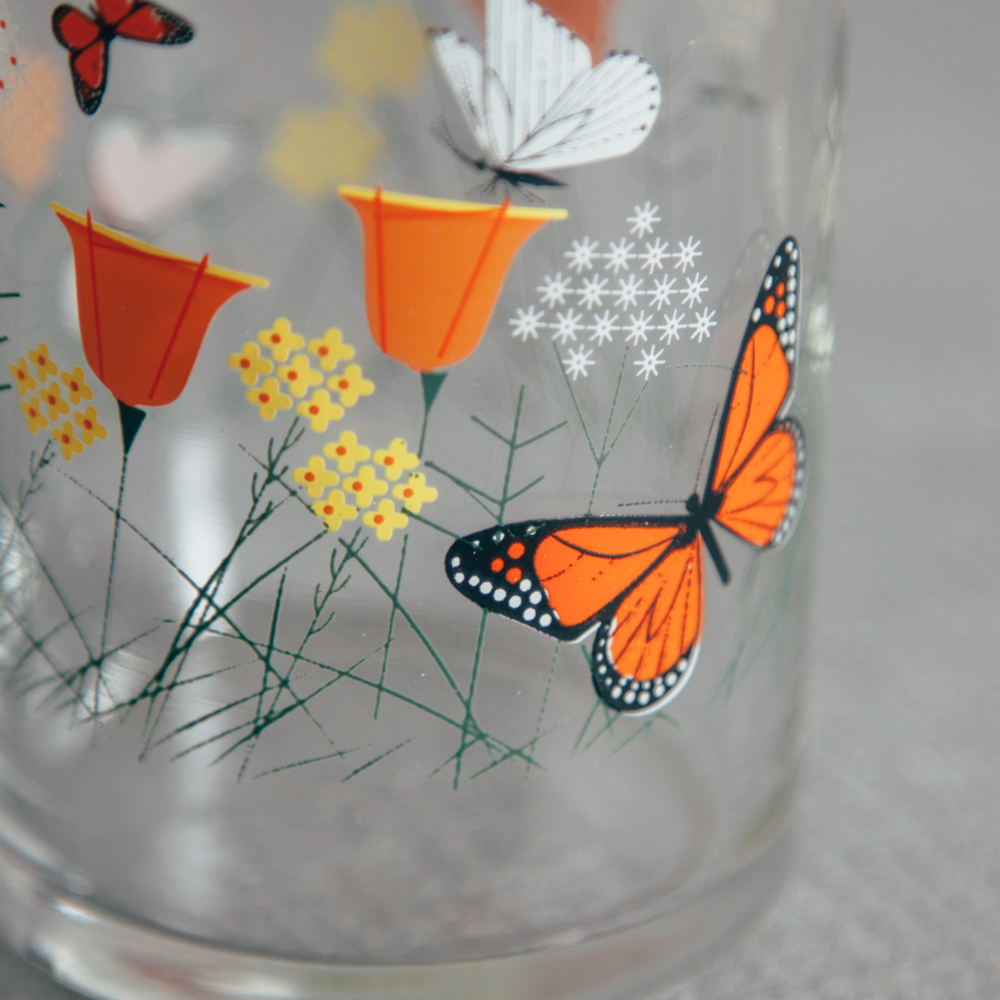 Oldham + Harper Fishs Eddy Butterfly Juice Glasses Relish Decor