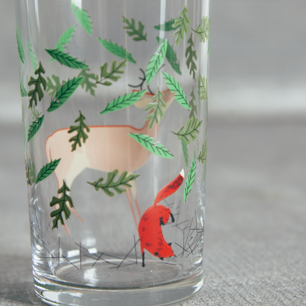 Oldham + Harper Great Outdoors Glass Set of 4 Fishs Eddy Relish Decor