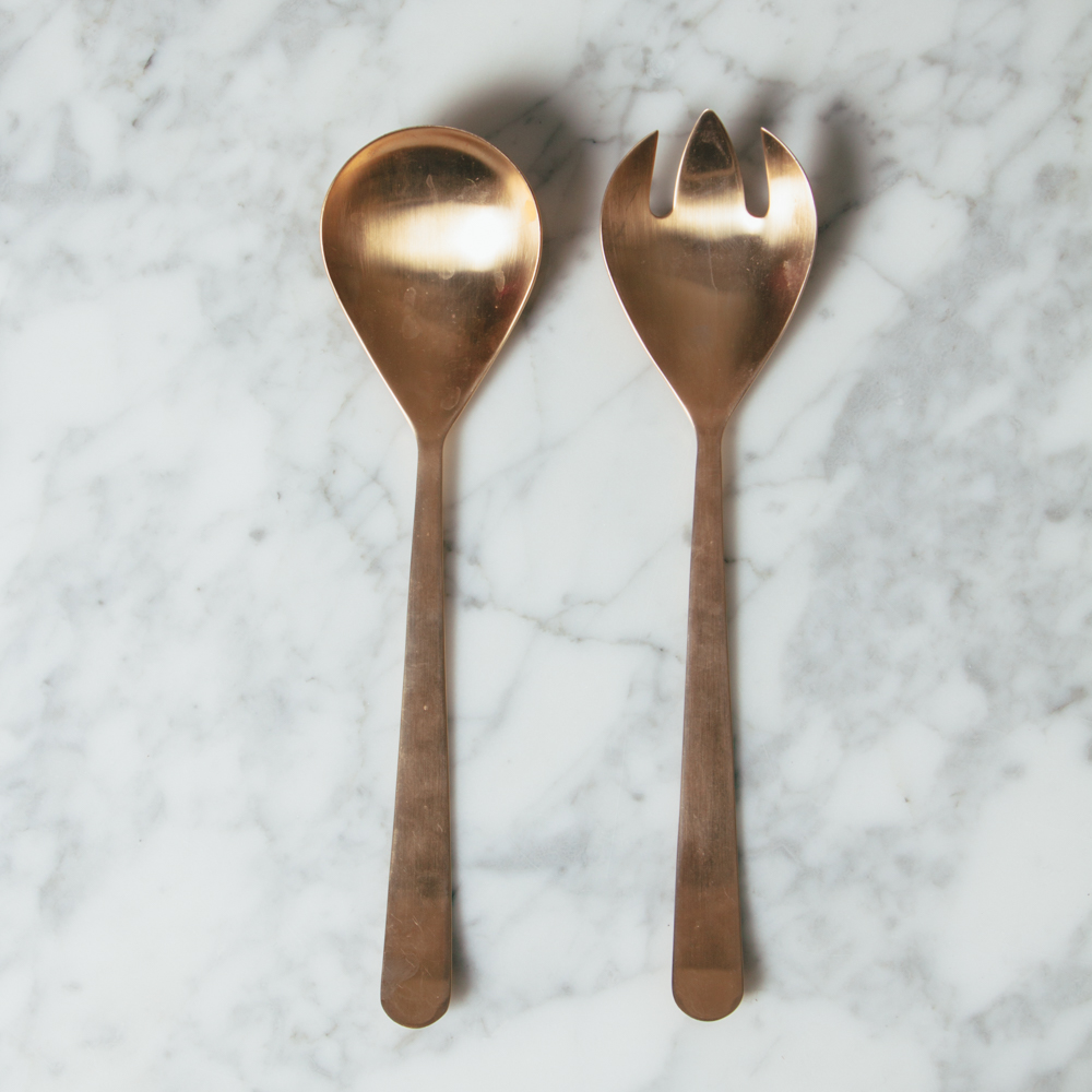 Oslo Gold Salad Server Set Relish Decor