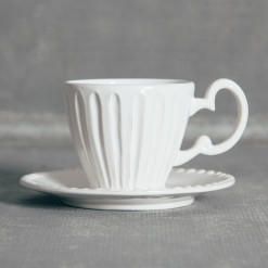 Palermo Whites Dinnerware Collection Cup and Saucer Relish Decor