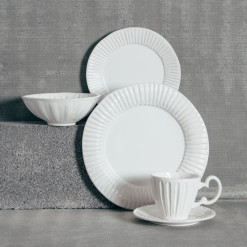Palermo Whites Dinnerware Collection Relish Decor