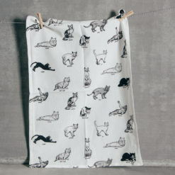 Paws Cat Tea Towel Fishs Eddy Cats Black and White Relish Decor