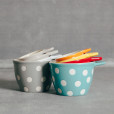 Polka Dot Measuring Cups Brights and Neutrals Relish Decor