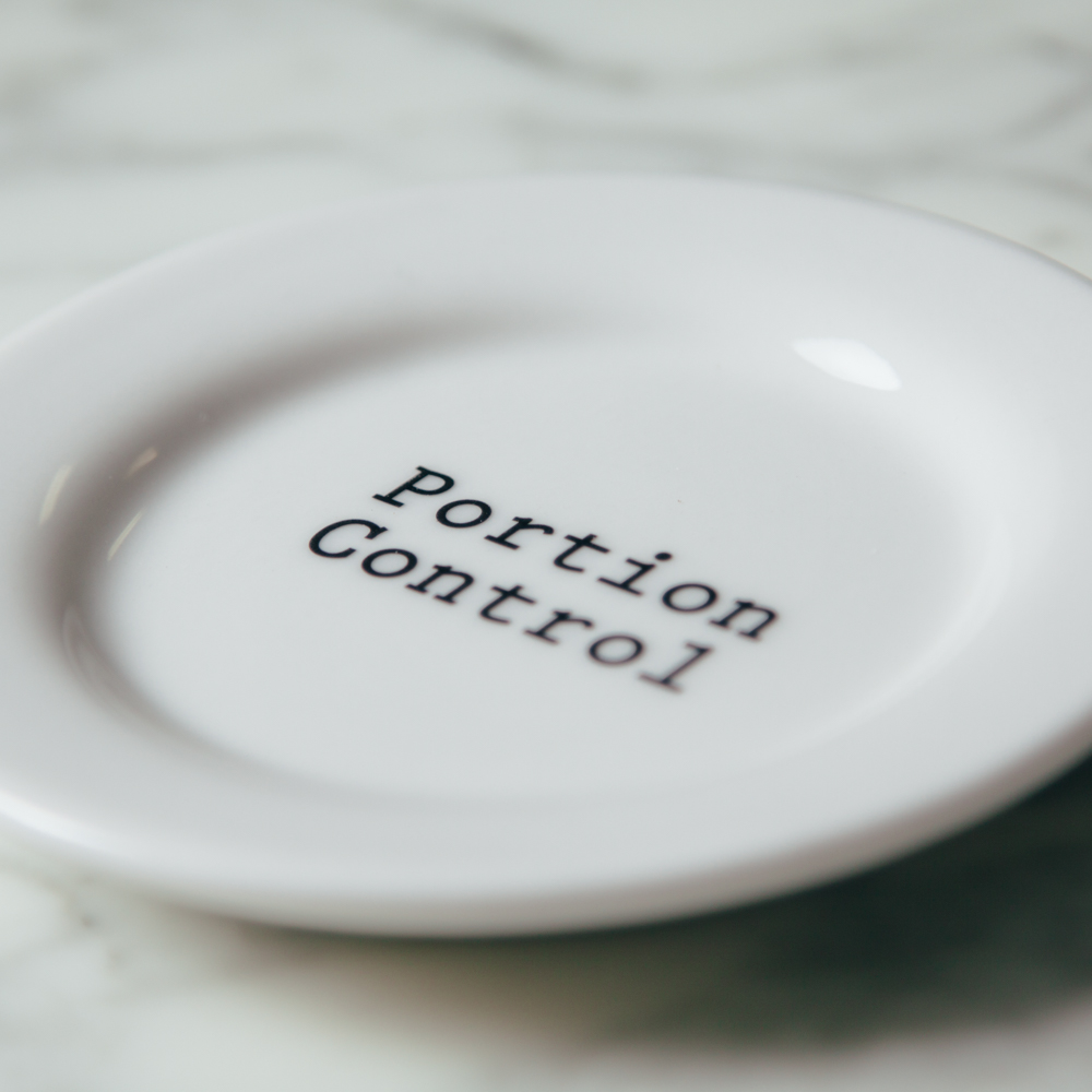 Portion Control Plate Type Font Fishs Eddy Interventionware Collection Relish Decor & Portion Control Plate - Relish Decor