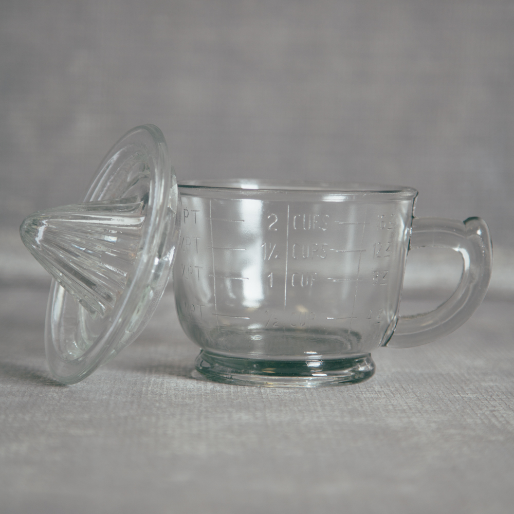 Pressed Glass Juicer Pour Spout Relish Decor