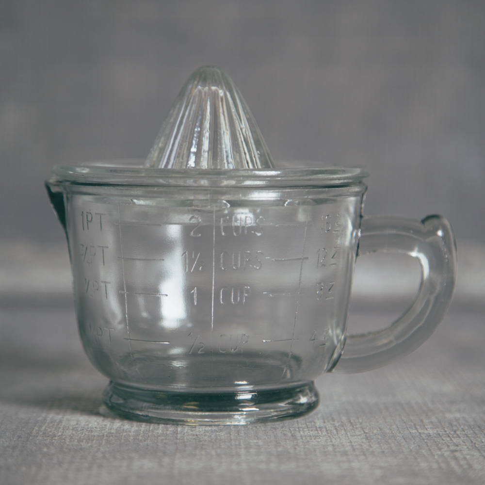 Pressed Glass Juicer Relish Decor