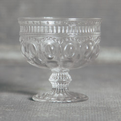 Regency Pressed Coupe Dish Ice Cream Parfait Glass Glassware Collection Relish Decor
