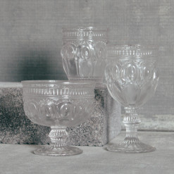 Regency Pressed Glasses Glassware Collection Relish Decor