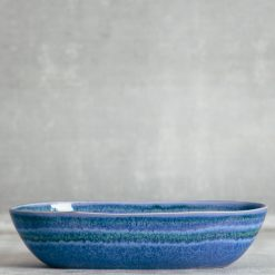 Relish Decor Casafina Serving Dinnerware Sausalito oval bowl blue