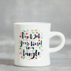 Relish Decor Christmas Holiday TInsel in a tangle mug