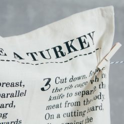 Relish Decor Christmas Holiday turkey carve tea towel