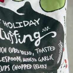 Relish Decor Christmas Holiday Stuffing Recipe Tea towel