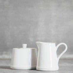 Relish Decor Costa Nova Dinnerware Astoria White creamer sugar bowl
