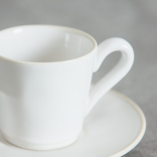 Relish Decor Costa Nova Dinnerware Astoria White Teacup and Saucer