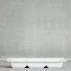 Relish Decor Costa Nova Dinnerware Astoria White Divided Dish Tray