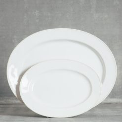 Relish Decor Costa Nova Dinnerware Astoria White oval serving platter