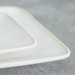 Relish Decor Costa Nova Dinnerware Astoria White rectangular serving tray