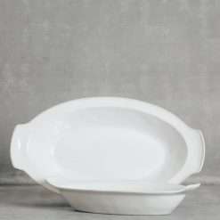 Relish Decor Costa Nova Dinnerware Astoria White Oval Gratin Dish