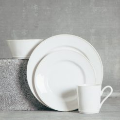 Relish Decor Costa Nova Dinnerware Astoria White Place Setting