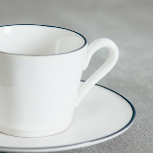 Relish Decor Costa Nova Dinnerware Beja Blue Teacup and Saucer