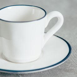 Relish Decor Costa Nova Dinnerware Beja Blue espresso coffee cup set