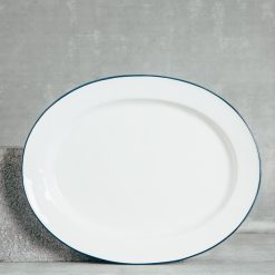 Relish Decor Costa Nova Dinnerware Beja Blue Oval Platter