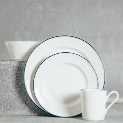 Relish Decor Costa Nova Dinnerware Beja Blue Place Setting