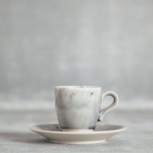 Relish Decor Costa Nova Dinnerware Madeira espresso and Saucer set grey