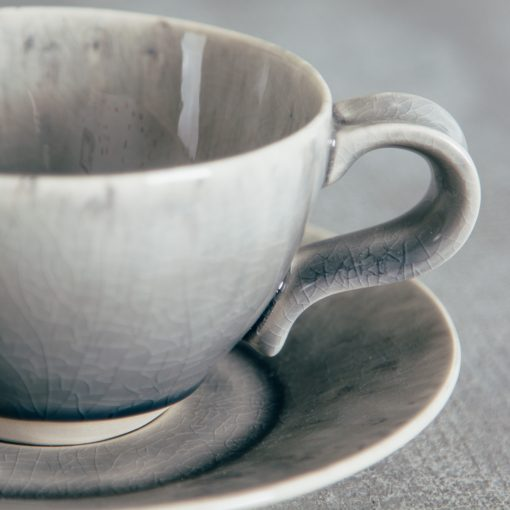 Relish Decor Costa Nova Dinnerware Madeira Teacup and Saucer set Grey