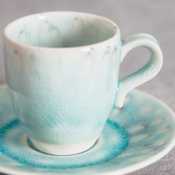 Relish Decor Costa Nova Dinnerware Madeira espresso and Saucer set blue