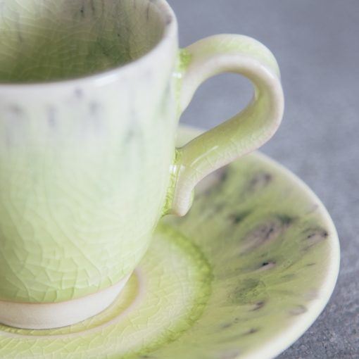 Relish Decor Costa Nova Dinnerware Madeira espresso and Saucer set lemon