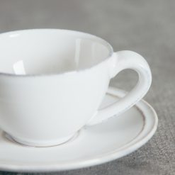 Relish Decor Costa Nova Friso Dinnerware Espresso Cups Set White